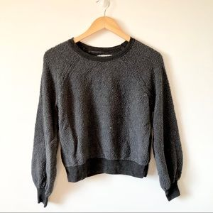 American Eagle Grey Balloon Chunky Knit Sweater